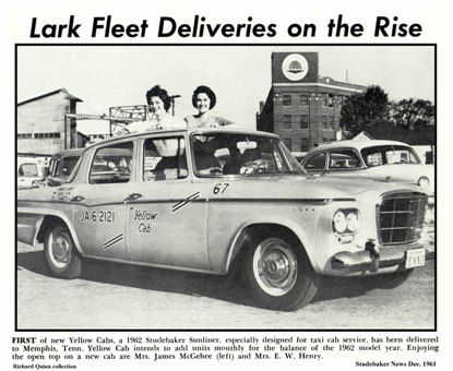 '62 Taxi article from Dec '61 Studebaker News