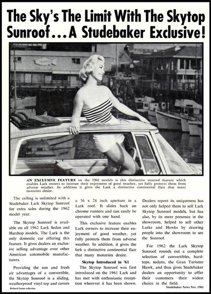 1962 Skytop Article Studebaker News 11/61