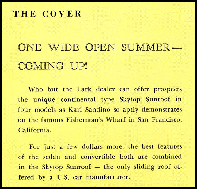 Studebaker News June 1961 cover description
