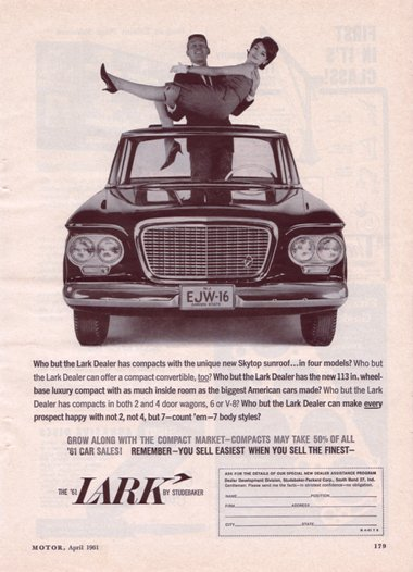 '61 Lark ad from Motor magazine