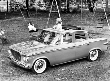 '61 Lark IV 4-door in playground scene