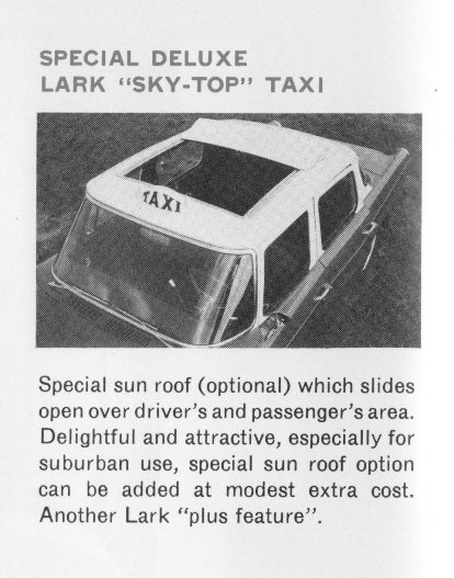 Taxi Sky-Top from '62 Taxi brochure
